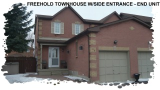 End Unit Freehold Townhouse